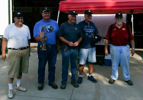 Cub Tug 2014 hosts and winners, L-R: Doug Miller, host; Matt Snider, Winner; Roy Edenfield, 2nd place; Mike Wolfe, 3rd place; Darrell Ratliff, co-host